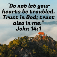 Sticker - John 14 Do Not Let Your Hearts Be Troubled