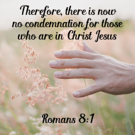 Sticker - Romans 8 Therefore There Is Now No Condemnation