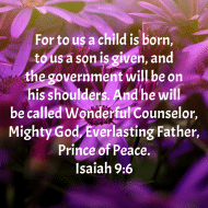 Sticker - Isaiah 9 For To Us A Child Is Born