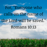 Sticker - Romans 10 For Everyone Who Calls On The Name