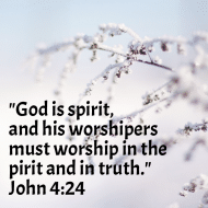 Sticker - John 4 God Is Spirit And His Worshipers