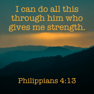 Sticker - Philippians 4 I Can Do All Tthis Through