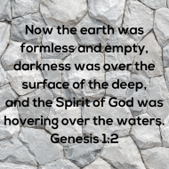 Sticker - Genesis 1 Now The Earth Was Formless