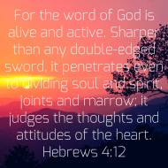 Sticker - Hebrews 4 For The Word Of God