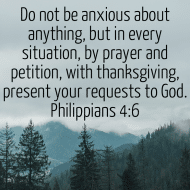 Sticker - Philippians 4 Do Not Be Anxious About Anything