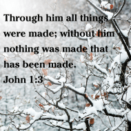 Sticker - John 1 Through Him All Things Were