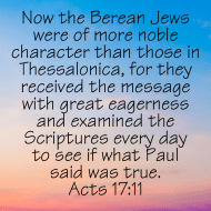 Sticker - Acts 17 Now The Berean Jews Were