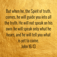 Sticker - John 16 But When He The Spirit