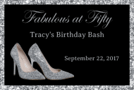 Birthday Mini Wine Label - Silver High Heals