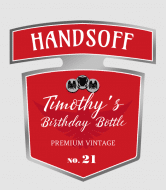 Birthday Wine Label - Hands Off Birthday Bottle