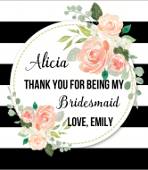 Wedding Champagne Label - Bridesmaid Thank You