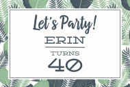 Celebration Mini Wine Label - Palm Fronds