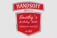 Birthday Mini Liquor Label - Hands Off Birthday Bottle