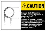 Safety Label - Ensure Belt Cleaning System Is Set Label