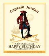 Birthday Liquor Label - Rum Captain