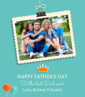 Holiday Wine Label - Father's Day Photo Op