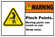 Safety Label - Pinch Points Keep Clear