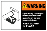 Safety Label - Keep Lineshaft Guard In Place