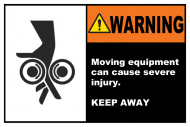 Safety Label - Moving Equipment Keep Away