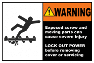 Safety Label - Exposed Screw & Moving Parts