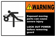Safety Label - Exposed Moving Parts Lock Out