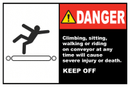 Safety Label - Danger Keep Off Conveyor