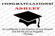Graduations Mini Wine Label - Black Graduation Cap