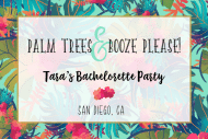 Wedding Mini Champagne Label - Palm Trees Please