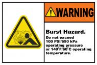Safety Label - Burst Hazard Do Not Exceed