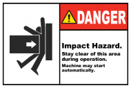 Safety Label - Impact Hazard Stay Clear
