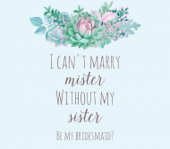 Wedding Beer Label - Please Be My Bridesmaid