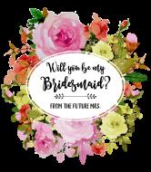 Wedding Wine Label - Watercolor Roses