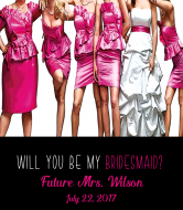 Wedding Champagne Label - Bridesmaids Dresses