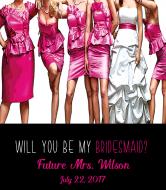 Wedding Wine Label - Bridesmaids Dresses