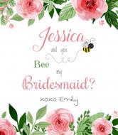 Wedding Champagne Label - Bee My Bridesmaid