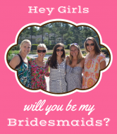 Wedding Wine Label - Will You Be My Bridesmaids