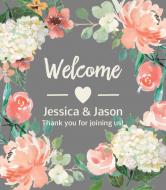 Wedding Wine Label - Floral Wedding Welcome