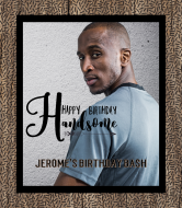 Birthday Wine Label - Happy Birthday Handsome