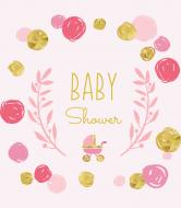 Baby Wine Label - Playful Scribbles Pink