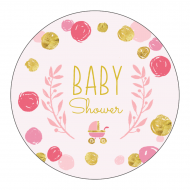 Baby Label - Playful Scribbles Pink