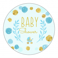 Baby Label - Playful Scribbles Blue
