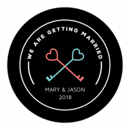 Wedding Sticker - Getting Married