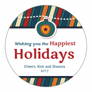 Holiday Sticker - Happiest Holidays
