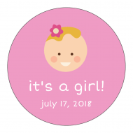 Baby Sticker - Baby Girl