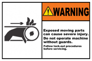 Safety Label - Exposed Moving Parts Lock-Out