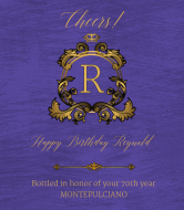 Celebration Wine Label - Royal Impression