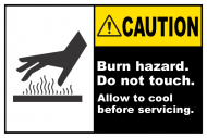 Safety Label - Burn Hazard Do Not Touch