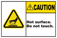 Safety Label - Hot Surface Do Not Touch