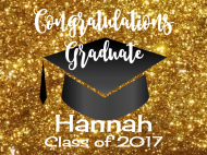 Graduations Soda Label - Graduation Gold Glitter