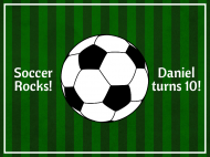 Birthday Soda Label - Soccer Birthday